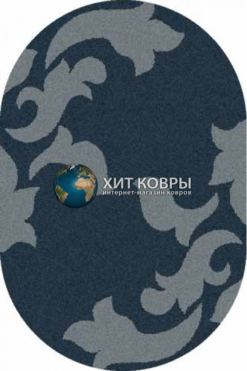 Российский ковер  овальный Platinum t620 морской волны